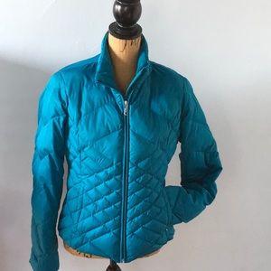 Eddie Bauer down jacket turquoise size S